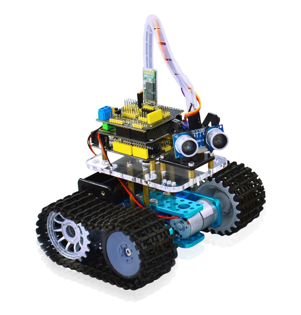 Mini tank arduino robot byte black