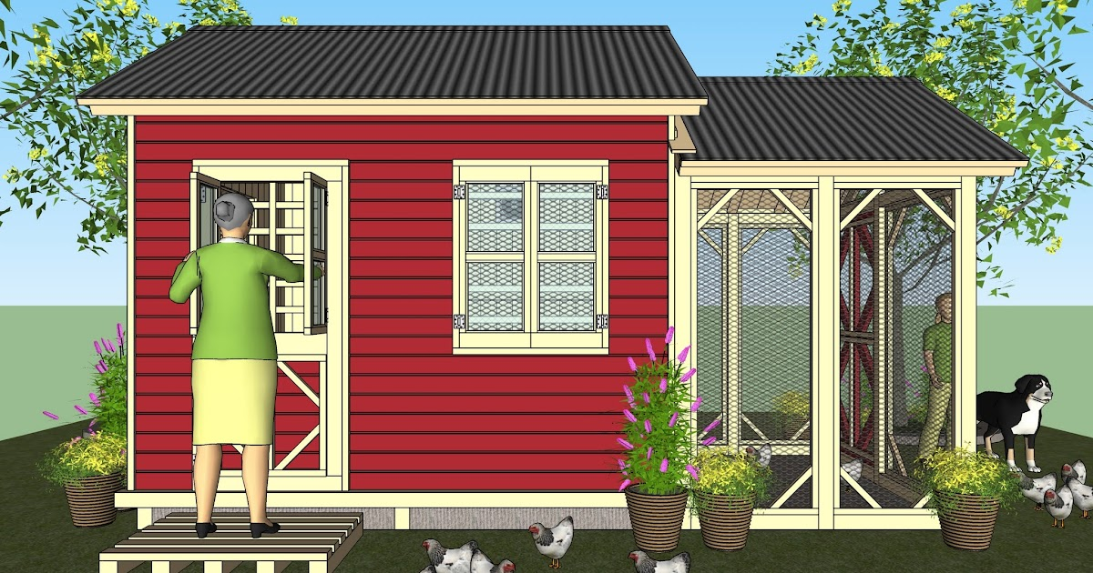 Home garden plans cb200 combo plans chicken coop for Storage shed playhouse combo plans