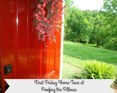 First Friday Home Tours at Poofing the Pillows. Featuring Daffodil Hill a colorful, fresh, and traditional home in the country.