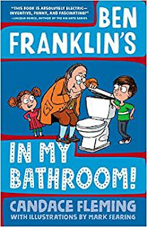 """Kid's Book Group Reads """"Benjamin Franklin's In My Bathroom"""" for May 16, 2018"""