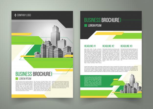 Flyer, cover design, business brochure Free Vector