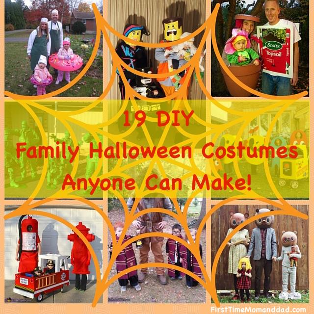 19 DIY FAMILY Halloween Costumes Everyone Will Love!