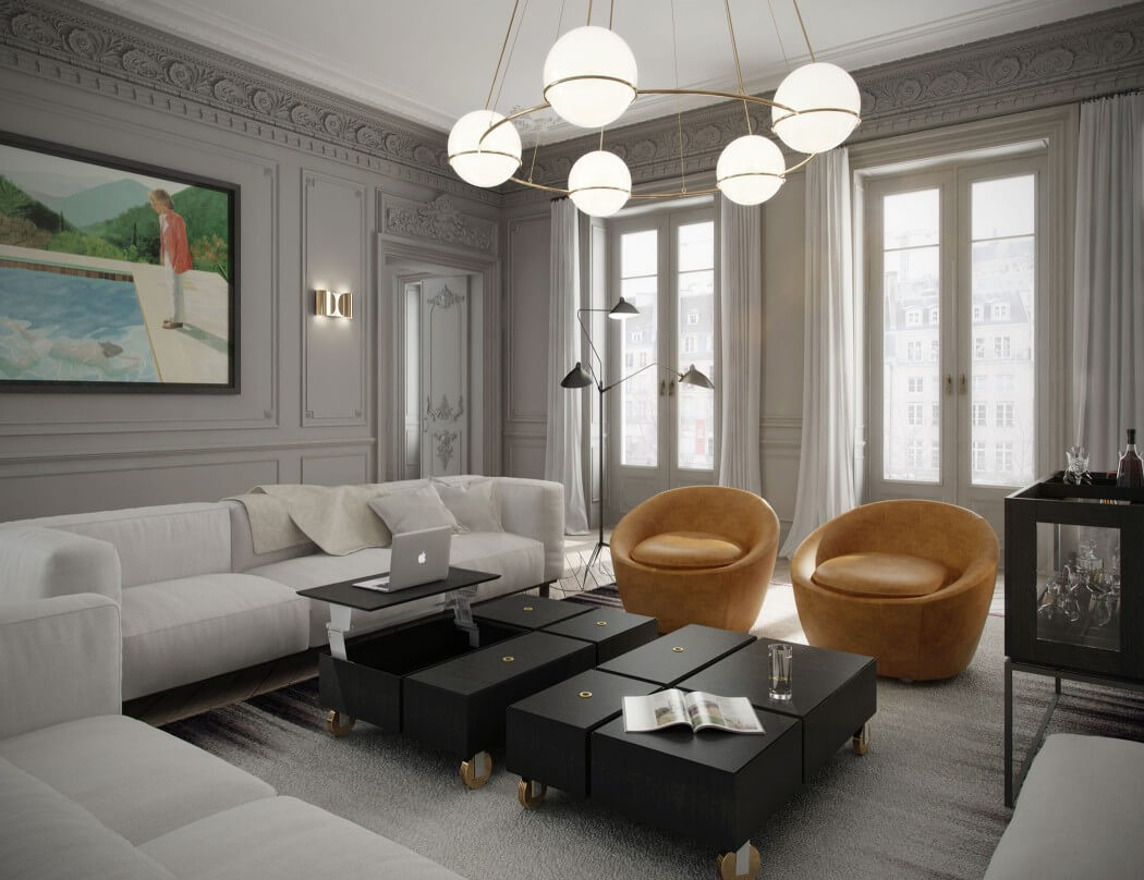 Eye for design decorating paris apartment style a for Buro interior design
