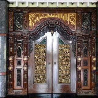 pintu gebyok jati mewah