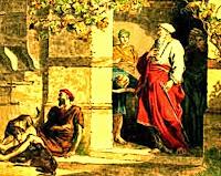 Resultado de imagen para En aquel tiempo, dijo Jesús a los fariseos: «Había un hombre rico que se vestía de púrpura y de lino y banqueteaba espléndidamente cada día.