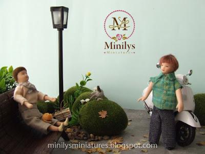 """""""minilys miniatures"""" """"garden"""" """"nuevo amigo"""" 1:12"""