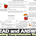 FREE Reading Comprehension Worksheets (Story and Questions) All Grade Levels