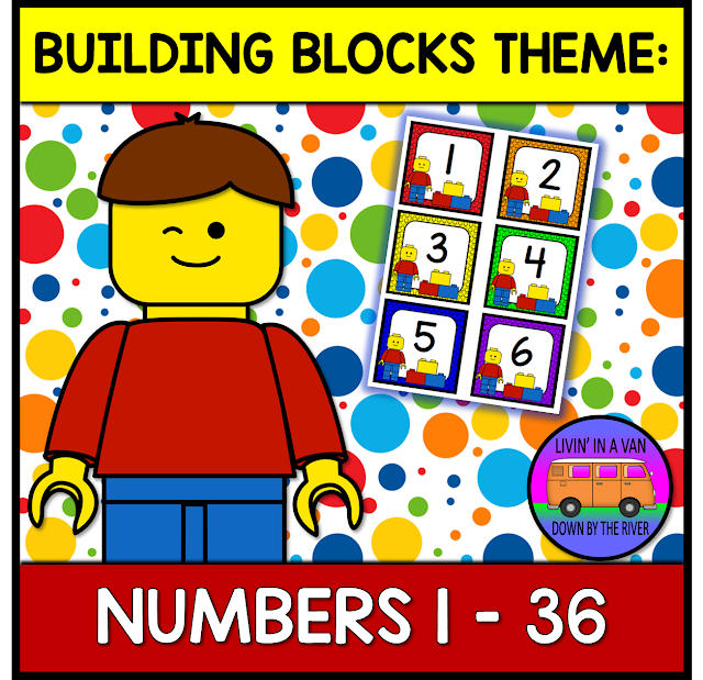 BUILDING BLOCKS THEME, CALENDAR, NUMBERS, #CLASSROOMDECOR