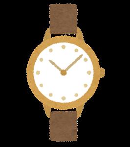 腕時計のイラスト(女性用)