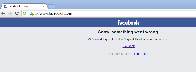 Facebook sorry something went wrong  Facebook is down