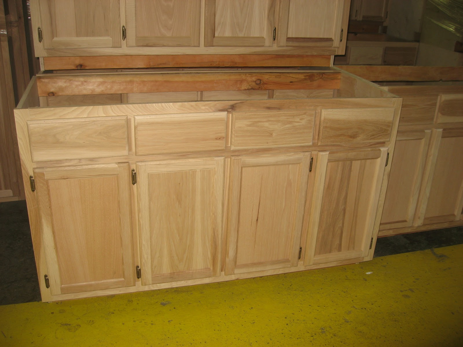 discount replacement kitchen cabinet doors mason jar lights blue ridge surplus: hickory unfinished cabinets