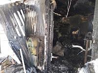 (ФОТО)23 февраля 2019 года в посёлке Алтынай по улице Октябрьской в доме № 139 произошёл пожар