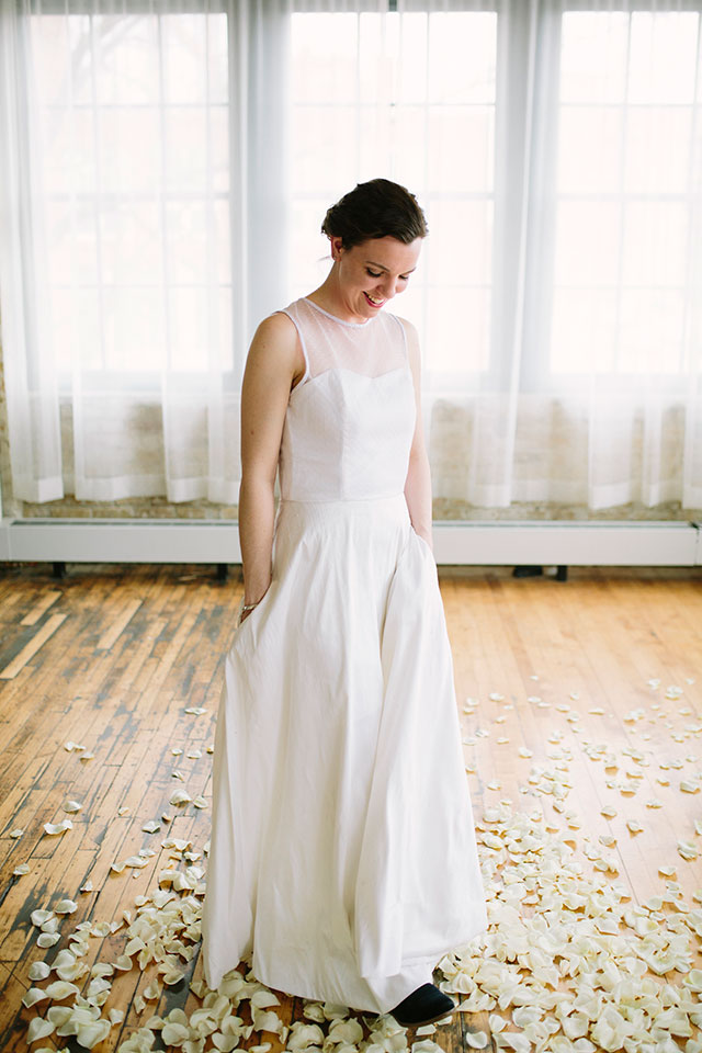 Mindfulness in sewing: Making a DIY wedding dress