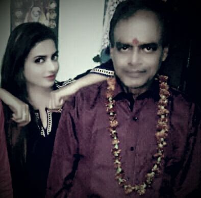 Priyanka Maharaj with her Father - Photo