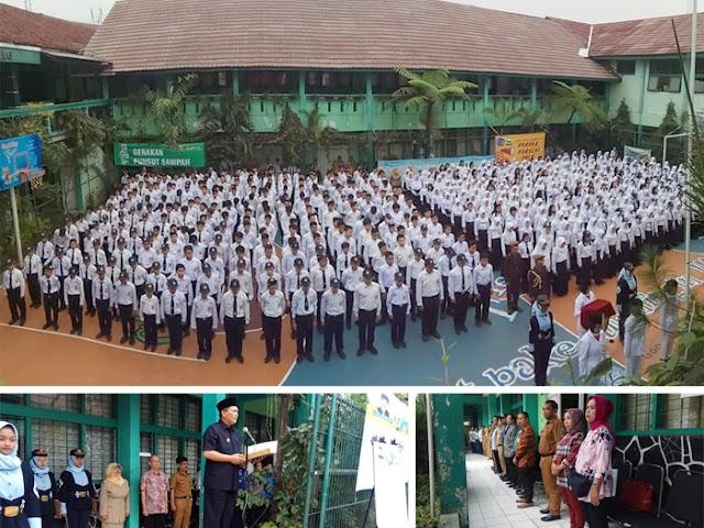 SMPN 28 Bandung Dukung Gerakan Pengelolaan Sampah Kang Pisman