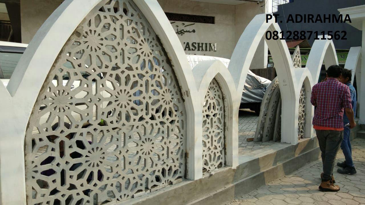 pabrik ornamen masjid minimalis beton cetak, 08567081281: 2018