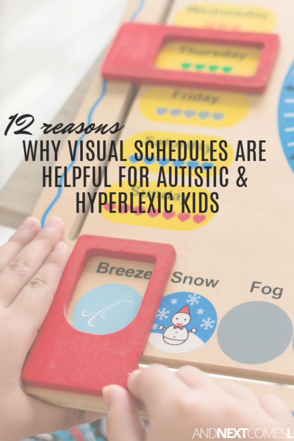 Visual schedule: 12 reasons why visual schedules are helpful for kids with autism or hyperlexia