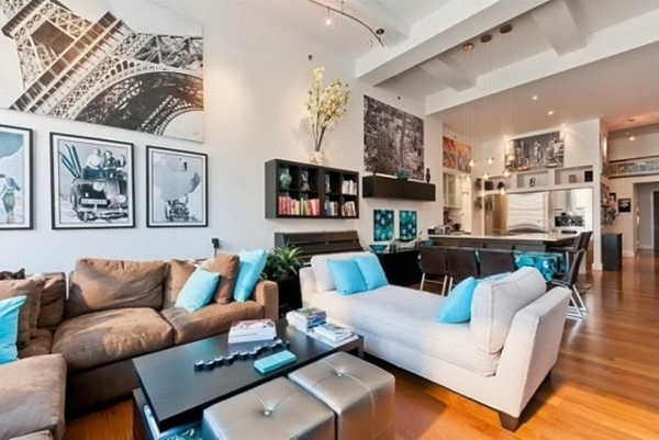extraordinary new york loft living room | Artistic Loft Interior Design For Art Lovers - Home ...
