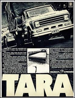 Propaganda caminhão Chevrolet – 1971, Chevrolet década de 70, GM anos 70, 70's Brazil General Motors, Oswaldo Hernandez,