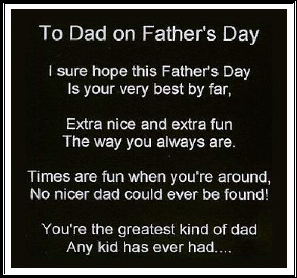 Funny Fathers Day Quote: Happy Father's Day Poems From A Daughter
