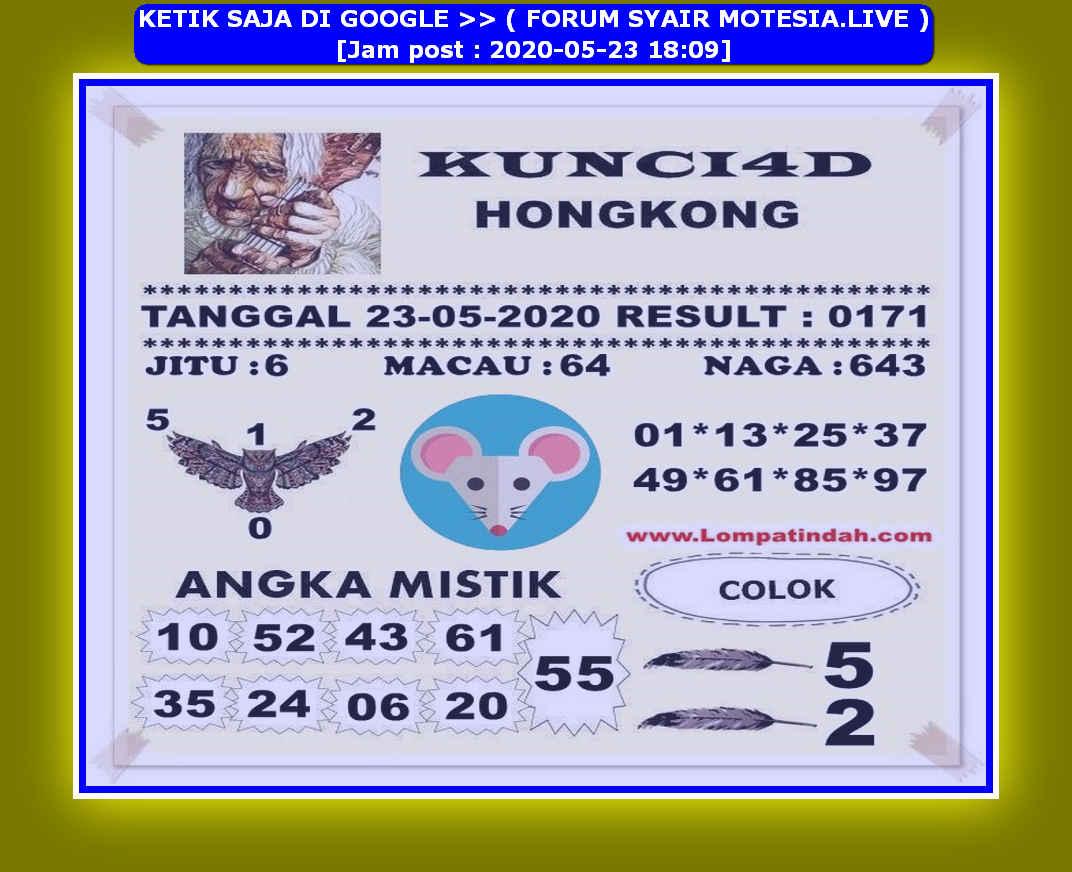 Kode syair Hongkong Sabtu 23 Mei 2020 46