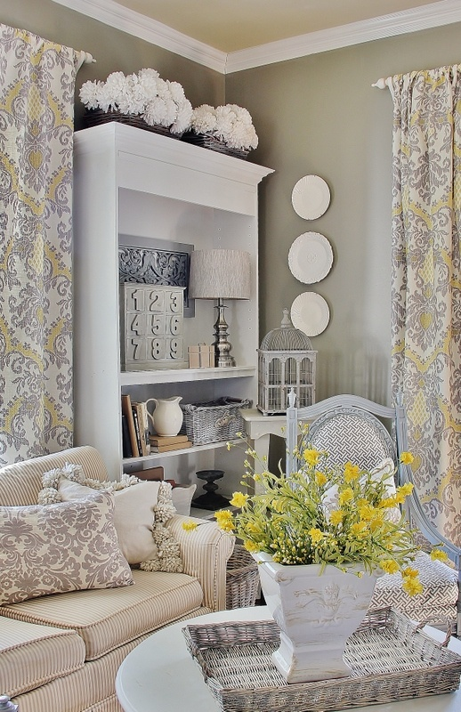 10 Ways to Add Farmhouse Style - Live Creatively Inspired on Farmhouse:-Cra1Rtrksu= Dining Room Curtains  id=84889
