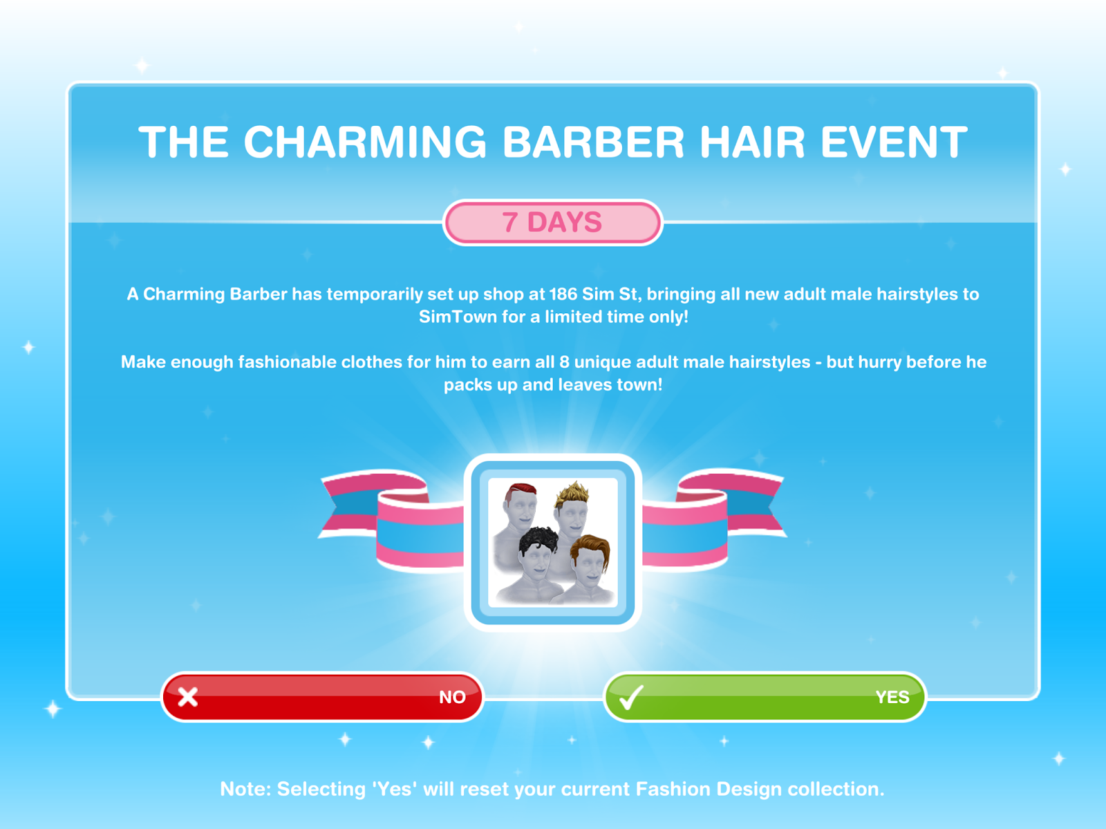 Missy S Sims And Stuff The Sims Freeplay Charming Barber Hair Event Quest Walkthrough Tips