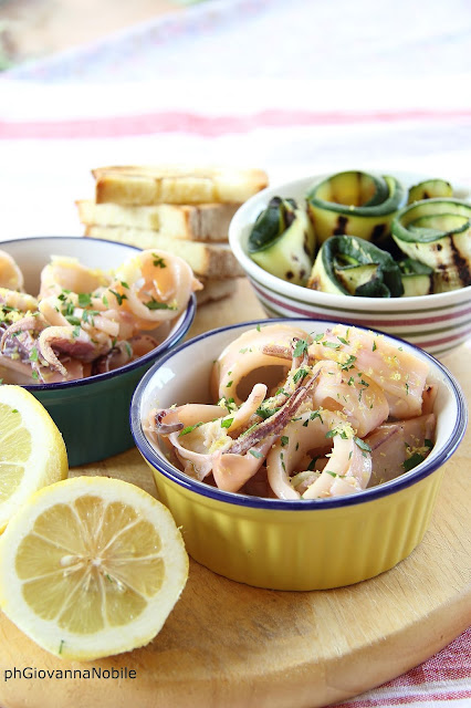 Calamari e zucchine al profumo di limone