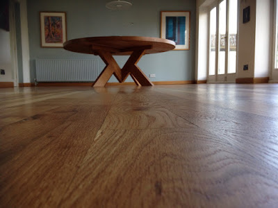 Oak floorboards restored and looking like new