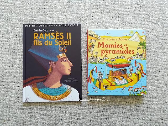 || Sélection de livres sur l'Histoire - Egypte antique - Ramsès II, fils du soleil - Momies et pyramides