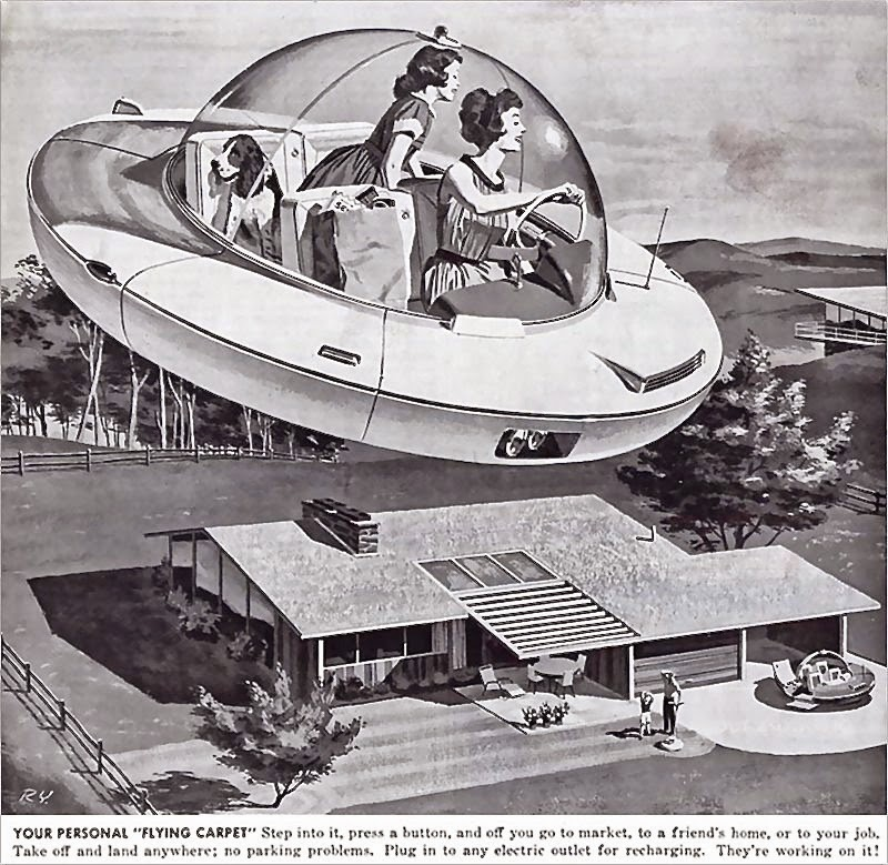 1950s, 1960s, retro future, retrofuturism, 20th century, 21st century, prediction