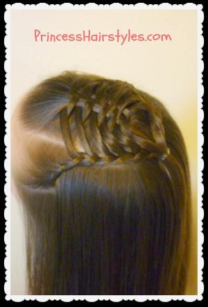 Terrific Woven Pyramid Half Up Hairstyle Tutorial Hairstyles For Girls Short Hairstyles Gunalazisus