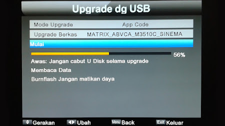 Cara Upgrade Matrix Sinema HD Firmware Terbaru