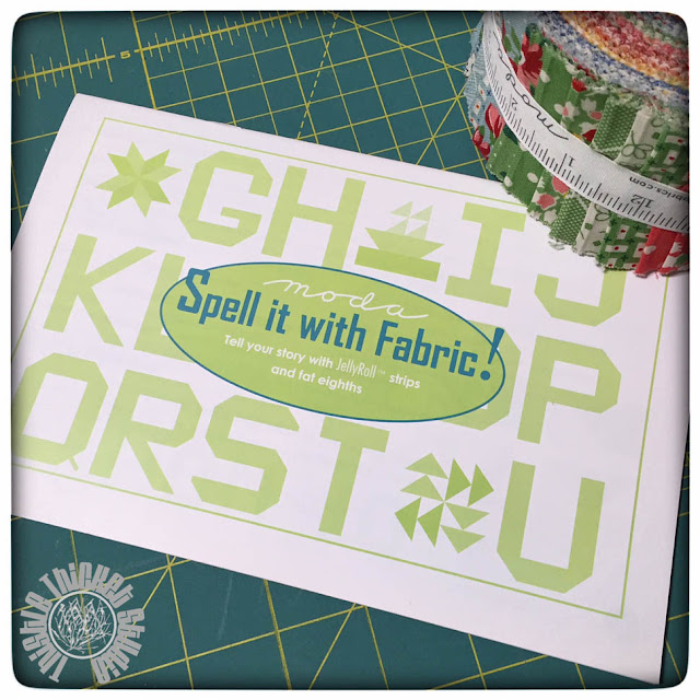 Spell It WithFabric Pattern Booklet at Thistle Thicket Studio. www.thistlethicketstudio.com