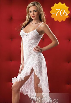 The New Attractive Transparent White Sexy Dress