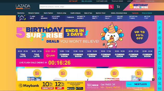 Lazada Sales - Lazada 5th anniversary sales