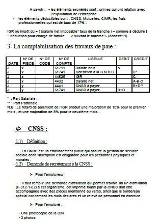 Rapport De Stage Cabinet Fiduciaire Traitement Comptable D Un
