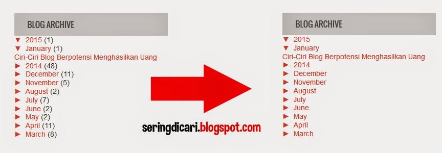 Cara Mudah Menghilangkan Jumlah Post Archive Blog