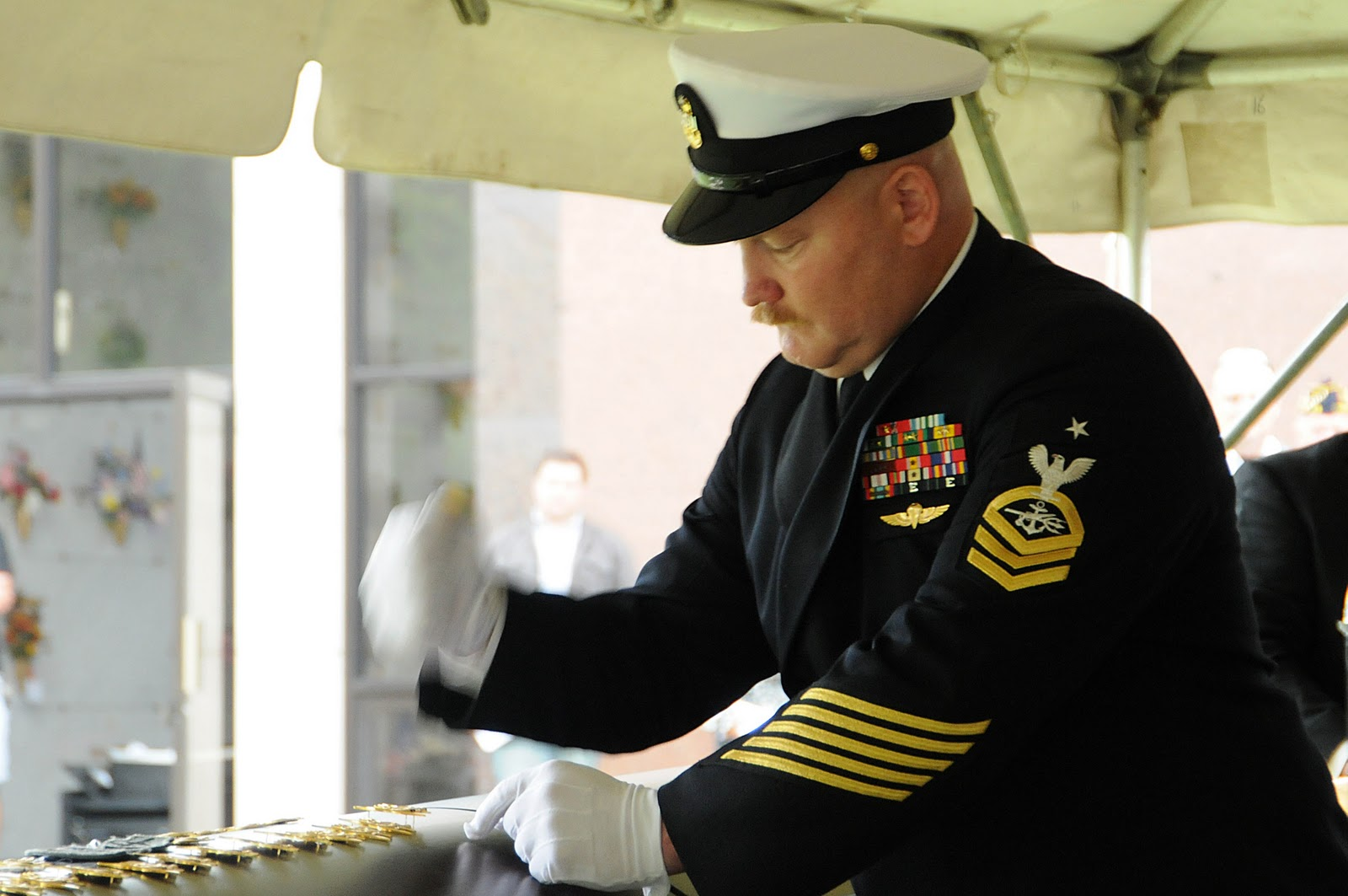 navy and novels funeral