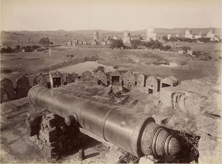 Fateh Rahbar Gun (the guide-to-victory cannon) in Golconda Fort