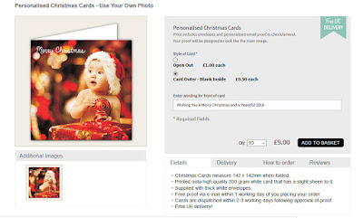 personalised own photo christmas cards from 70p each