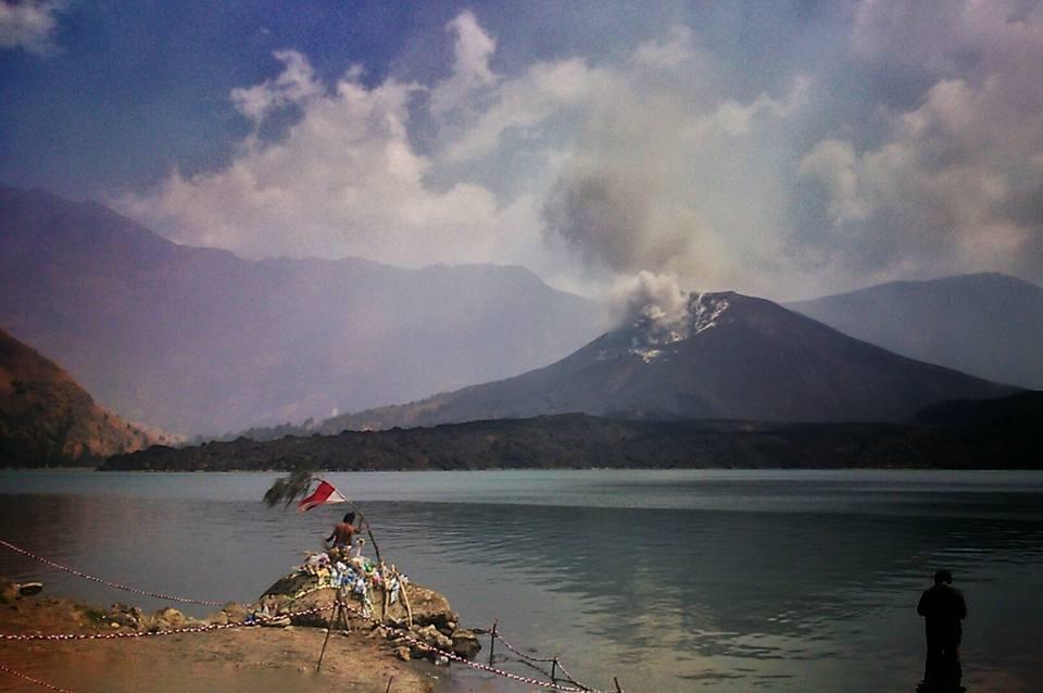 Anak Gunung Rinjani, Gunung Baru Jari Meletus