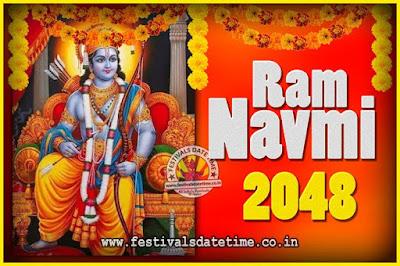 2048 Ram Navami Pooja Date & Time, 2048 Ram Navami Calendar