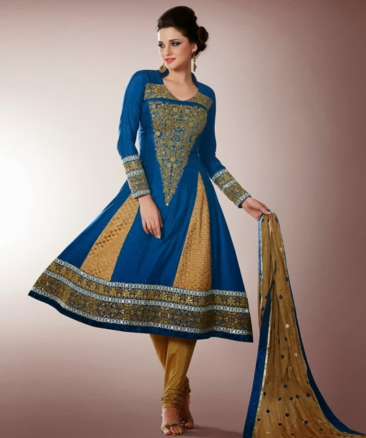Readymade Embroidered Frocks 2014 2015 Indian Anarkali
