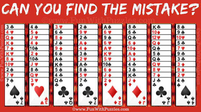 It is Mistake finding puzzle in which one has to find the error in given Gypsy Solitaire Card Game Snapshot