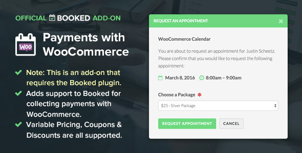 Booked Payments with WooCommerce (Add-On) v1.2.17