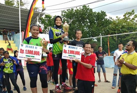 Kejuaraan Bola Voli Nagari Tingkat Kota Padang, Kategori Putra Dijuarai Lubeg, Putri Diraih Nanggalo
