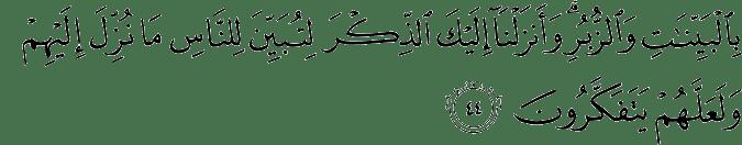 Surat An Nahl Ayat 44
