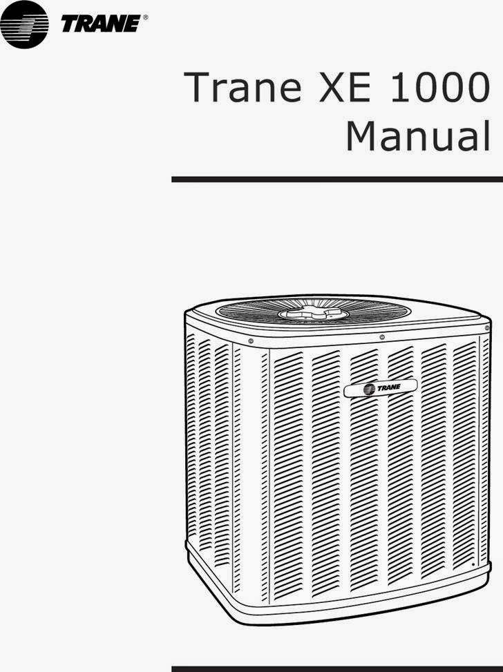 Trane xe 60 And Manual