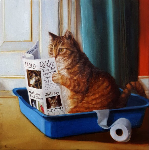 03-Kitty-Throne-Lucia-Heffernan-Oil-Paintings-www-designstack-co